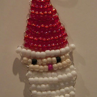 Santa Beaded Tree Decoration