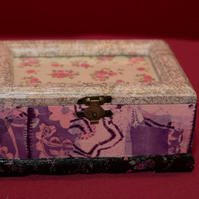 A decopatch photo and jewellery box