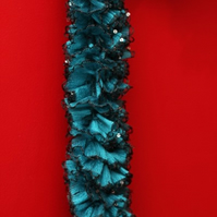 Turquoise Frilled Scarf
