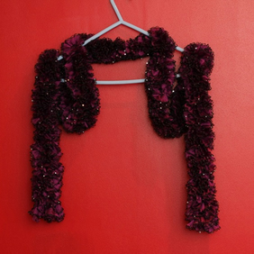 Purple Frilled Scarf