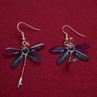 Blue and Turquoise Dragonfly Earrings