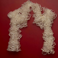 Cream Lacy Effect Scarf