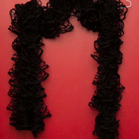 Black Lacy Effect Scarf