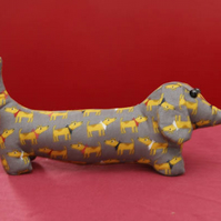 Dachshund Sausage Dog Grey Fabric Friend