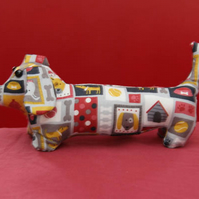 Dachshund Sausage Dog Black and Grey Fabric Friend