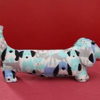 Dachshund Sausage Dog Pastel Fabric Friend