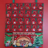 Around the Fireplace Advent Calendar