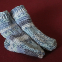 Blue Fairisle Babies Socks