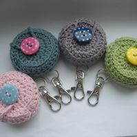 Crochet Lip Balm Holder Cosy Keyring for Vaseline