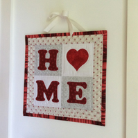 """Home"" wall hanging"