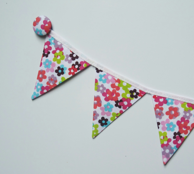 Magnetic fridge bunting (flowers)