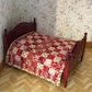 1:12 scale double bed quilt