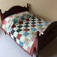 1:12 scale Double Patchwork Quilt