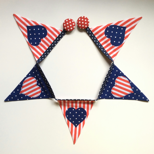 Fridge bunting (red,white,blue)