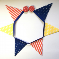 Magnetic fridge bunting