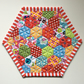 Mug rug (hexagons)