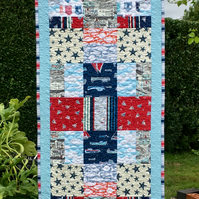 Quilted Nautical Table Runner (61ins long)