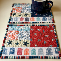 Nautical mug rugs (pair)