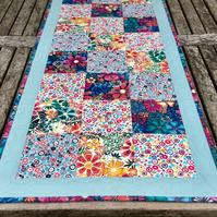 Quilted Table Runner (flowers) REDUCED