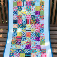 Quilted patchwork runner (Beach Road)