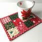 Christmas mug rug  (red flake)