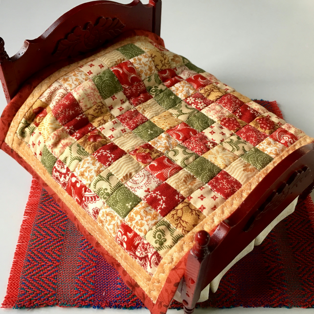 1:12 Doll's house double quilt