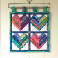 Mini wall hanging (string hearts)