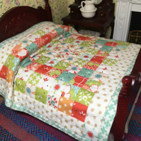 Miniature Double bed quilt