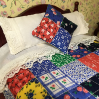 Miniature Double Patchwork Quilt Set.