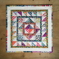 Patchwork quilted table topper