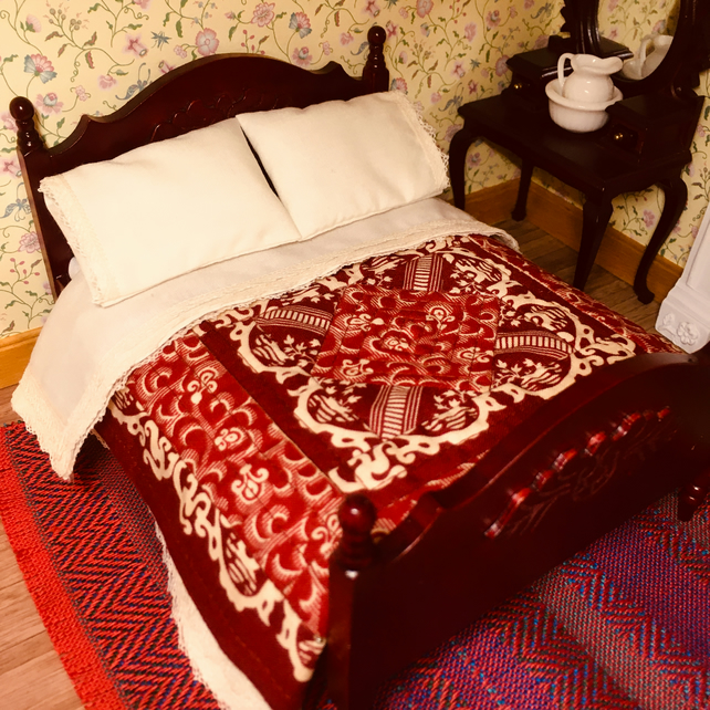 Miniature double bed quilt set