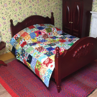 Miniature patchwork double quilt