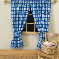 Miniature 1:12 doll's house curtains