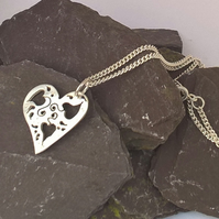 Small Cut Out Heart Pendant