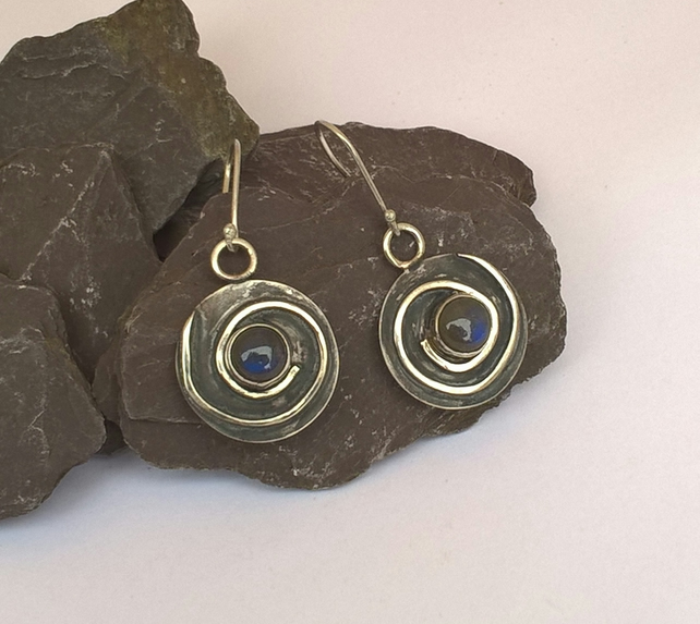 Labradorite Catherine Wheel Earrings