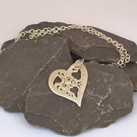 Cut Out Heart Pendant