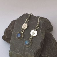Swirly Labradorite Earrings