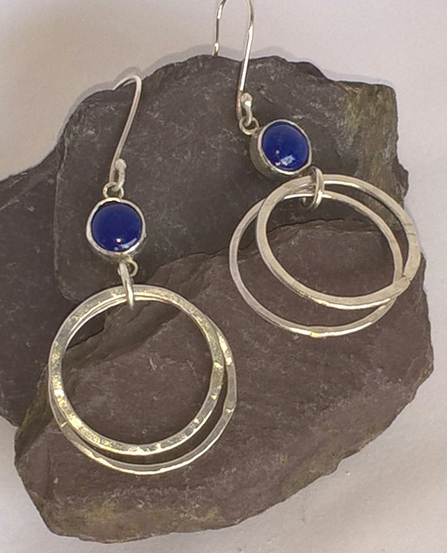 Lapiz Luzuli Hooped Earrings