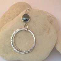 Hematite Hooped Pendant