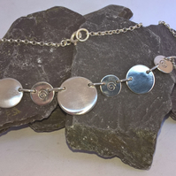 Swirly Disc Necklace