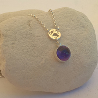 Amethyst Drop Stone Necklace