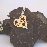 Large Cut out Heart Necklace
