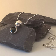 Onyx & Silver Necklace