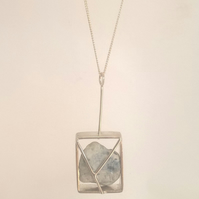 Stone in a Box Necklace