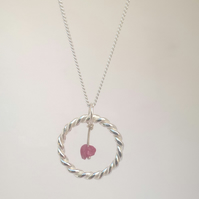 Silver & Ruby Necklace