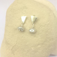 Freshwater Pearl and Silver Ear Studs