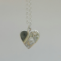 Small Textured Silver Heart