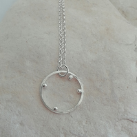 Silver Ring with Balls Pendant