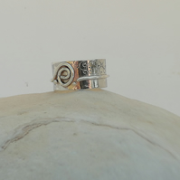 Deep Silver Ring with a Swirl