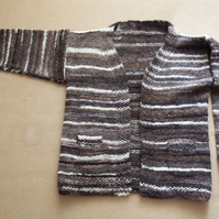 Chunky Cardigan with edge to edge design detail
